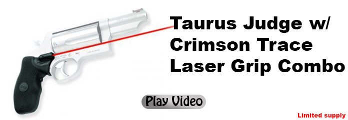 Taurus Judge w/ Crimson Trace Laser Grip Combo